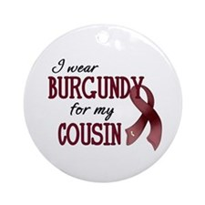 Wear Burgundy - Cousin Ornament (Round)