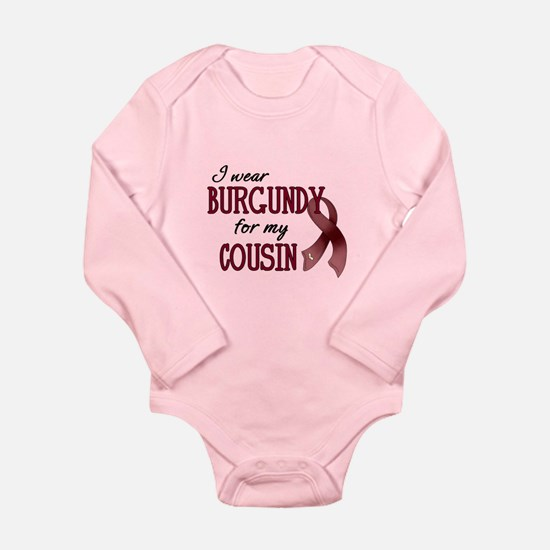 Wear Burgundy - Cousin Long Sleeve Infant Bodysuit