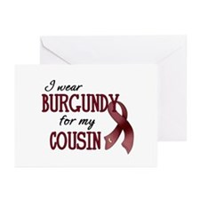 Wear Burgundy - Cousin Greeting Cards (Pk of 20)
