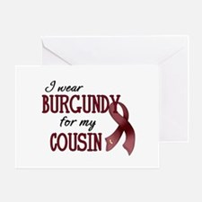 Wear Burgundy - Cousin Greeting Card