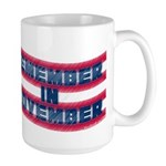 Remember in November Large Mug