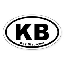 KB Key Biscayne Euro Oval Decal