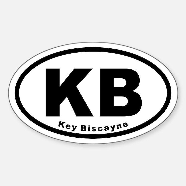 KB Key Biscayne Euro Oval Decal