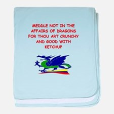 dragon humor on gifts and t-s Infant Blanket