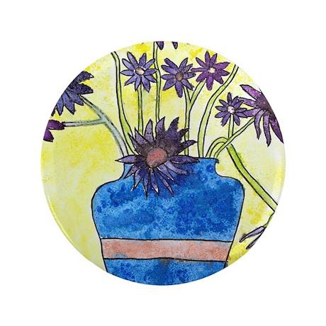 "Abby H's Flower Vase 3.5"" Button"