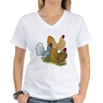 Sebright Rooster Assortment Women's V-Neck T-Shirt
