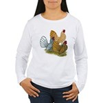 Sebright Rooster Assortment Women's Long Sleeve T-