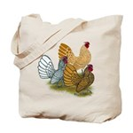 Sebright Rooster Assortment Tote Bag