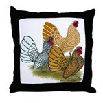 Sebright Rooster Assortment Throw Pillow