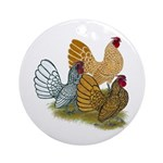 Sebright Rooster Assortment Ornament (Round)