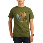 Sebright Rooster Assortment Organic Men's T-Shirt