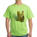 Sebright Rooster Assortment Green T-Shirt