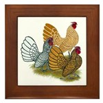 Sebright Rooster Assortment Framed Tile