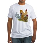 Sebright Rooster Assortment Fitted T-Shirt