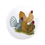 "Sebright Rooster Assortment 3.5"" Button"
