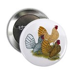 "Sebright Rooster Assortment 2.25"" Button (10"