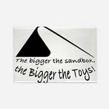 Bigger the Sandbox Rectangle Magnet