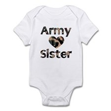 Army Sister Heart Camo Infant Creeper