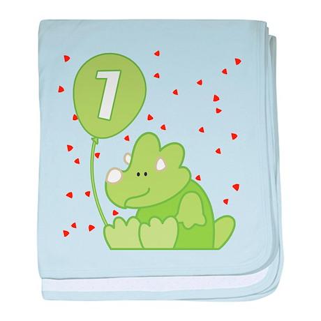 Baby Dino First Birthday Infant Blanket