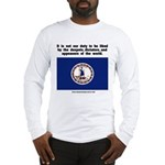 Not Our Duty Virginia Long Sleeve T-Shirt