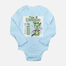 Lil Dragon First Birthday Long Sleeve Infant Bodys
