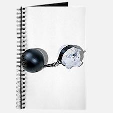 Piggy Bank Ball and Chain Journal