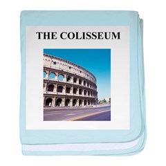 the colisseum rome italy gift Infant Blanket
