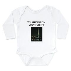 washington monument Long Sleeve Infant Bodysuit