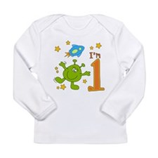Lil Alien First Birthday Long Sleeve Infant T-Shir