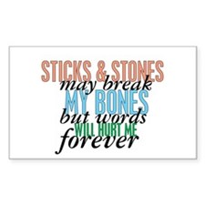 Sticks and Stones Decal