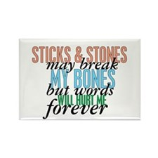 Sticks and Stones Rectangle Magnet (10 pack)