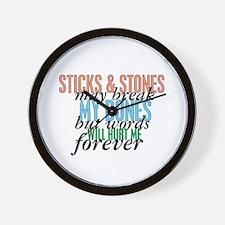 Sticks and Stones Wall Clock
