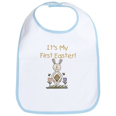 Boy Bunny 1st Easter Bib