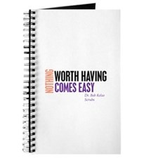 Nothing Worth Having Comes Ea Journal