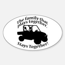 Family Plays Sticker (Oval)