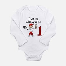 Stick Pirate First Birthday Long Sleeve Infant Bod