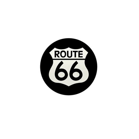 Route 66 Highway Sign Biker Mini Button (10 pack)