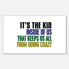 The Kid Inside Us Sticker (Rectangle)