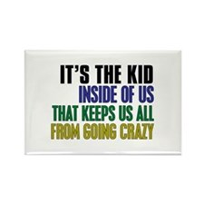 The Kid Inside Us Rectangle Magnet (10 pack)