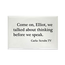 Thinking Before We Speak Quot Rectangle Magnet