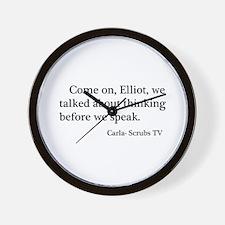 Thinking Before We Speak Quot Wall Clock