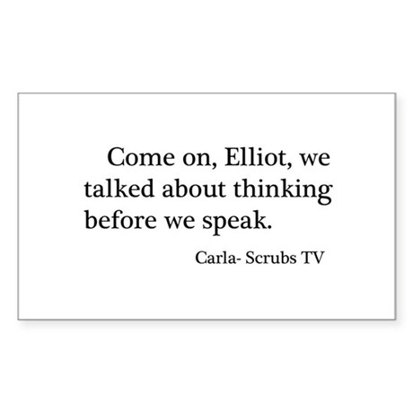 Thinking Before We Speak Quot Sticker (Rectangle)