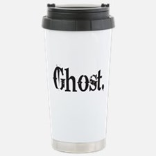 Grunge Ghost Stainless Steel Travel Mug