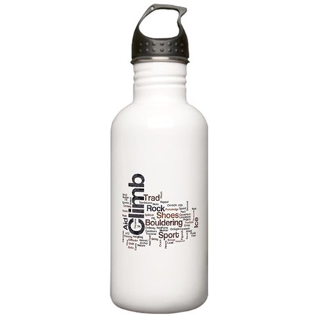 Climbing Words Stainless Water Bottle 1.0L