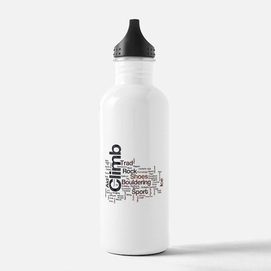 Climbing Words Water Bottle