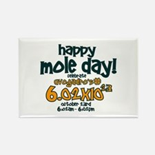 Happy Mole Day ! Rectangle Magnet