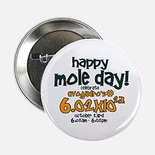 """Happy Mole Day ! 2.25"""" Button"""