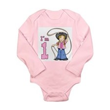 Cowgirl Roper First Birthday Long Sleeve Infant Bo