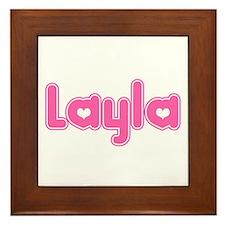 """""""Layla"""" Framed Tile"""