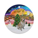 Xmas Music 2 - Golden #10 (light) Ornament (Round)